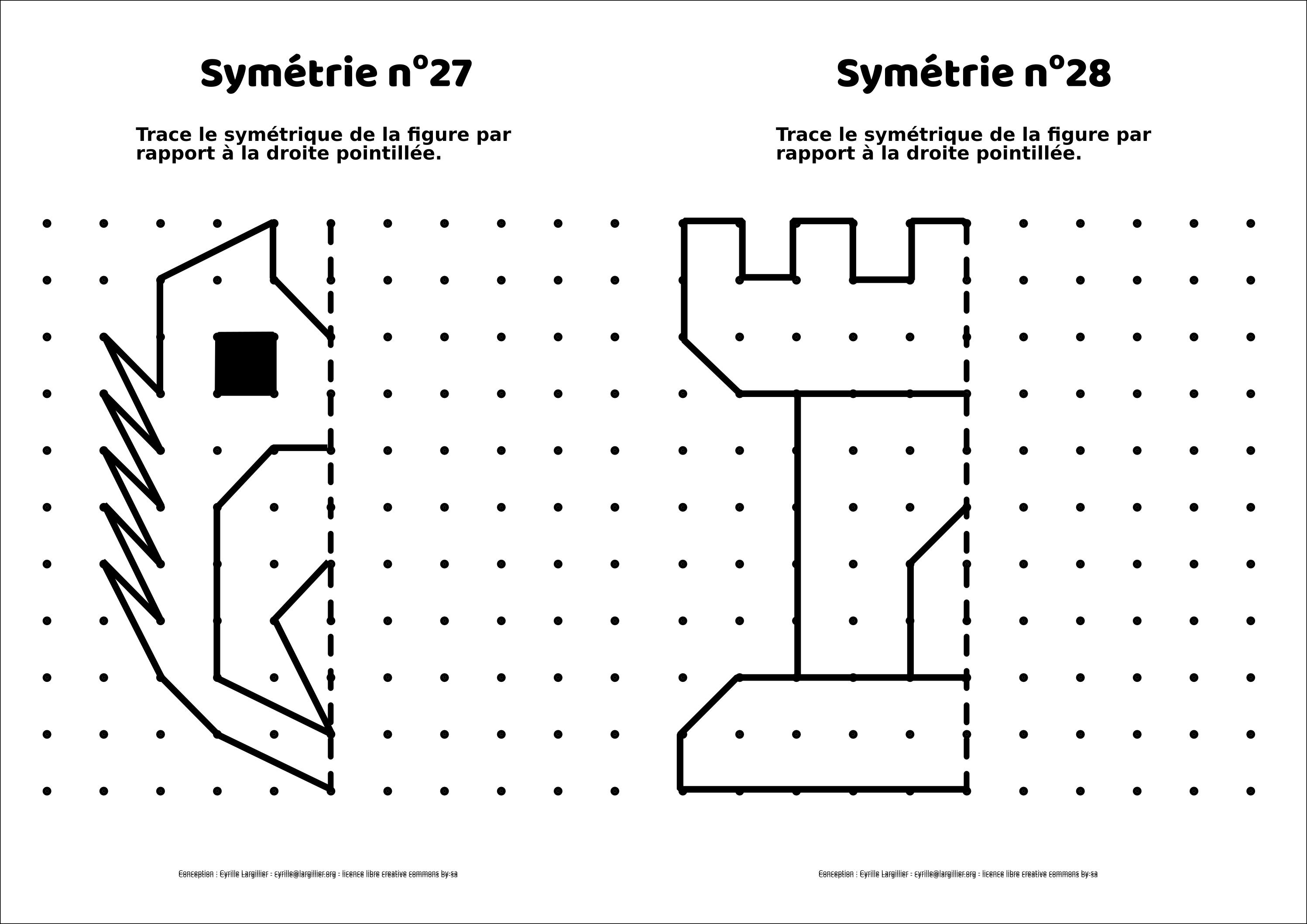 Symétrie CE : 20 mini-fiches - le retour - Cyrille Largillier